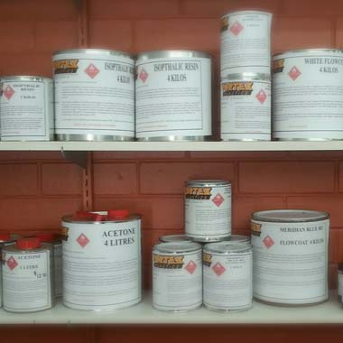 a range of fibreglass products