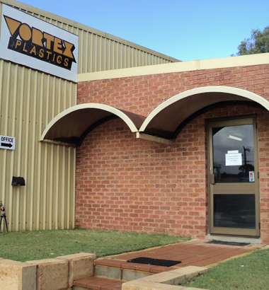 an image of the Vortex Plastics shopfront in Geraldton WA