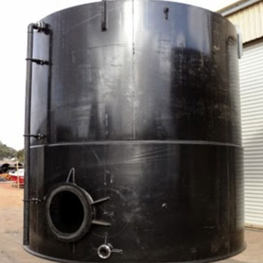 Storage tank built in Geraldton by Vortex Plastics